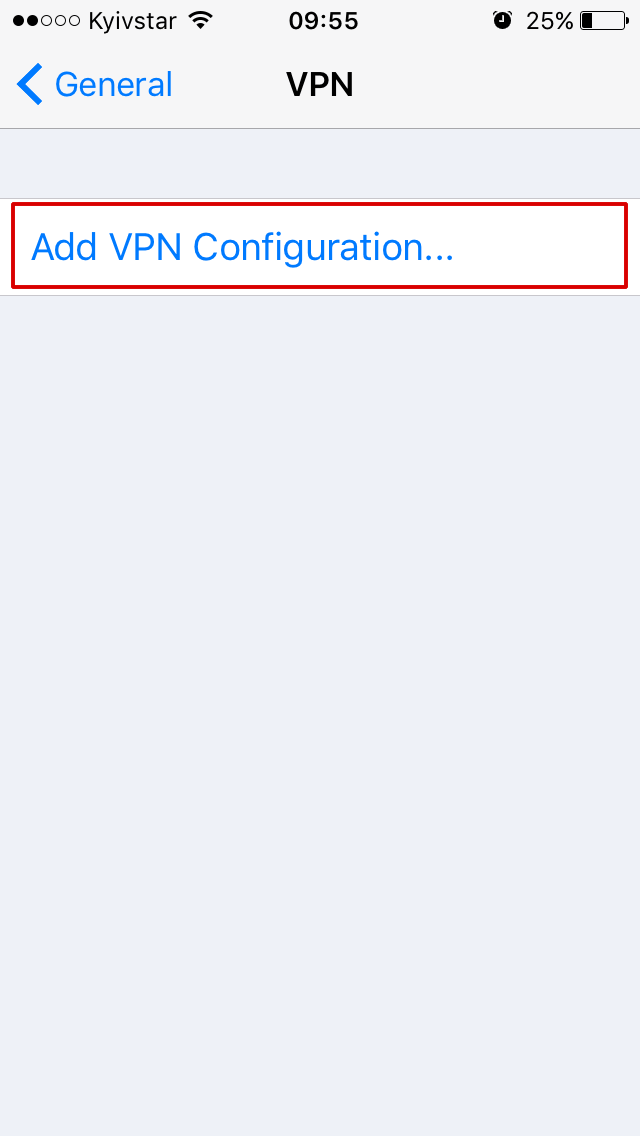 Setup VPN in iOs Step 3